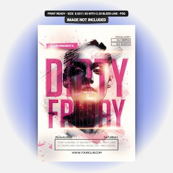 Dirty Friday Party Poster