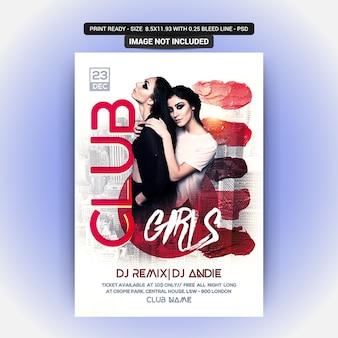 Disco girl party flyer