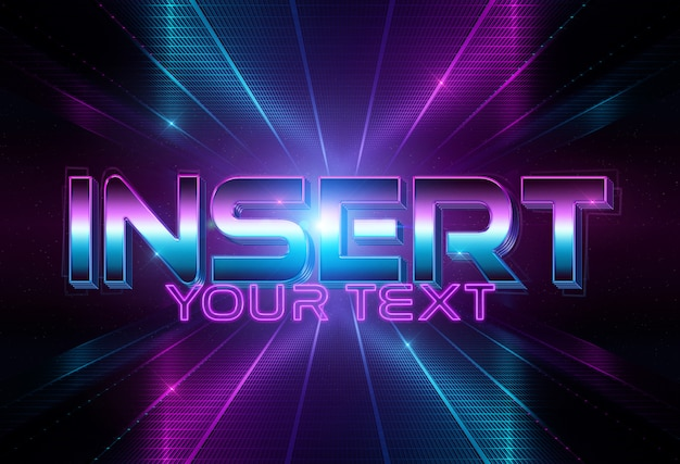 Disco style text effect mockup