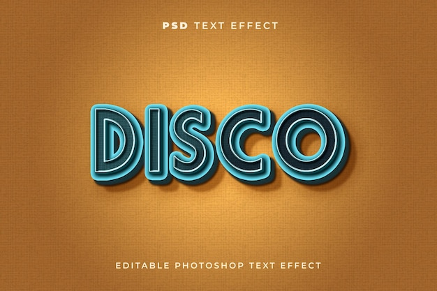 Disco text effect template with vintage style