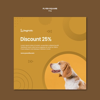 Discount for dog flyer template