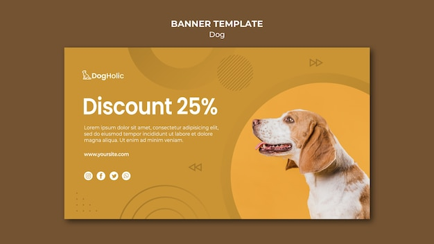 犬バナーテンプレートの割引
