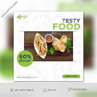 Discount offer  post banner template
