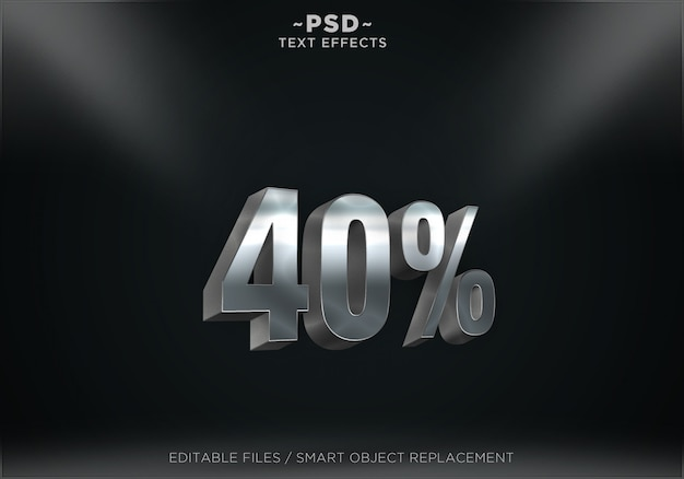 Discount silver text effect