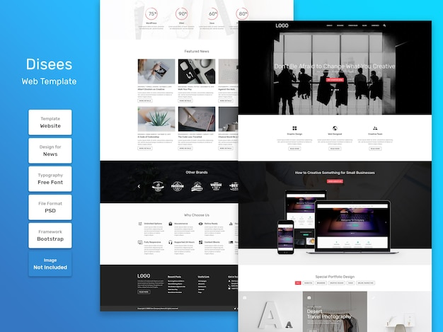 Disees business and agency web template