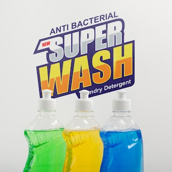 Dish washing soap with mock-up
