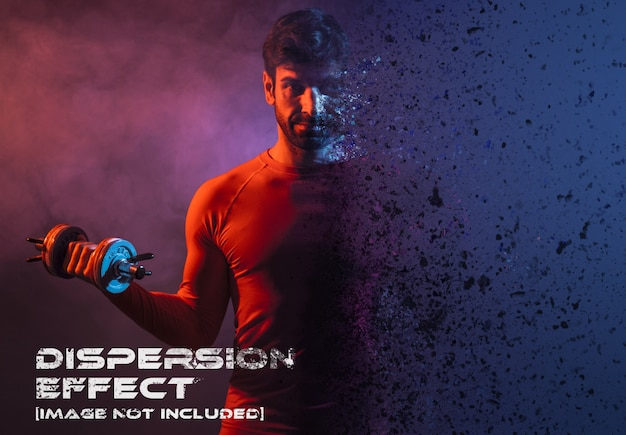 Dispersion photo effect mockup