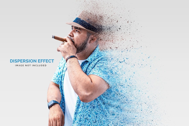 Dispersion photo effect template