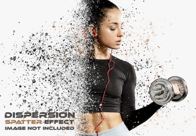 Dispersion spatter photo effect mockup