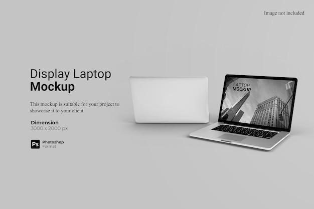 노트북 목업 표시