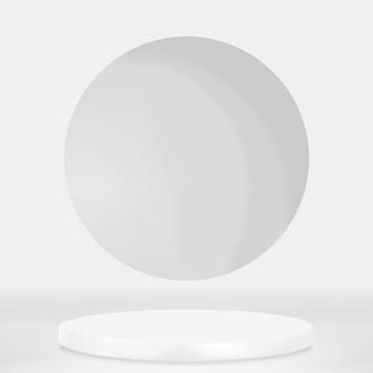 디스플레이 연단 3d 렌더링 psd 최소한의 회색 제품 배경