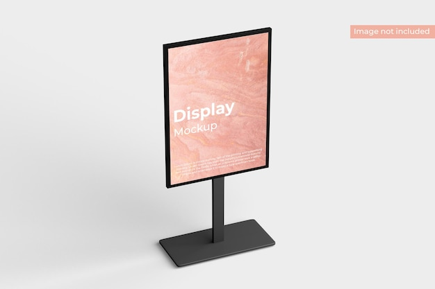 Display stand mockup left view