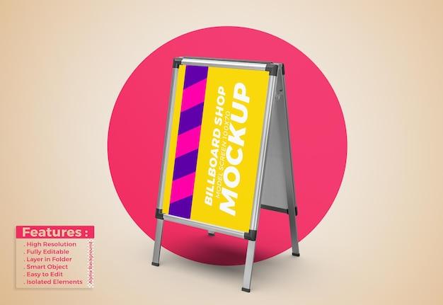 Display stand signboard poster mockup Premium Psd