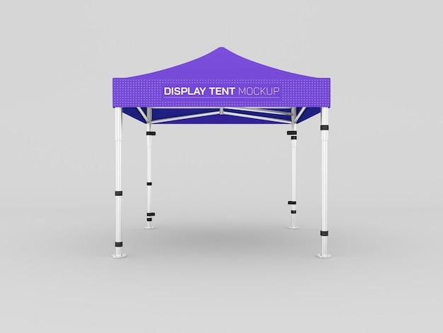 Display tent mockup