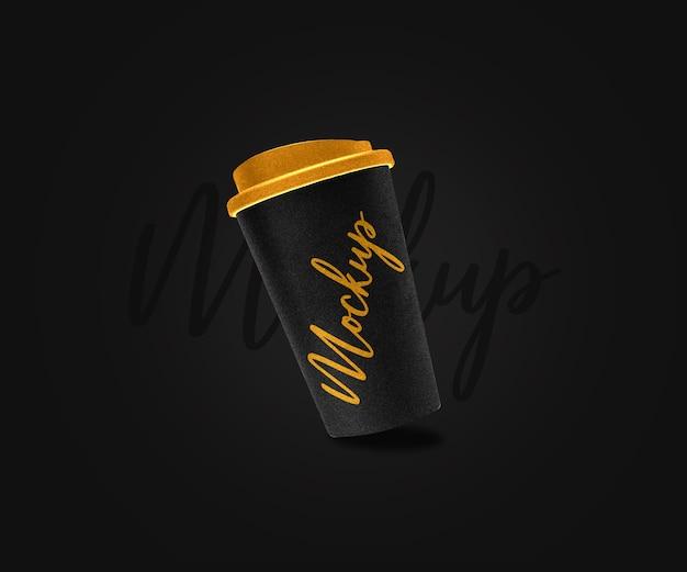 Макет одноразовой чашки кофе изолирован