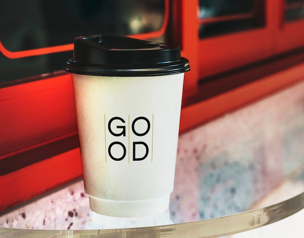 Одноразовый дизайн макета бумажный стаканчик кофе