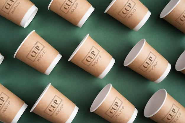 Disposable coffee shop elements arrangement