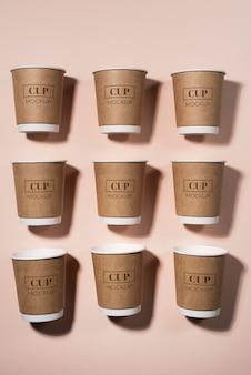 Ассортимент одноразовых элементов кофейни