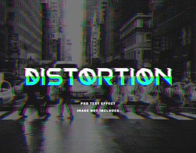Distortion text effect template