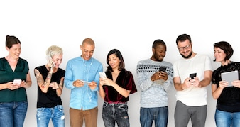 Diversity Group Use Mobile Phone Communication