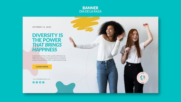 Diversity is the power that brings happiness banner