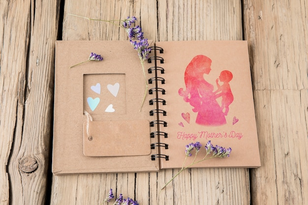 Diy book mockup for mothers day