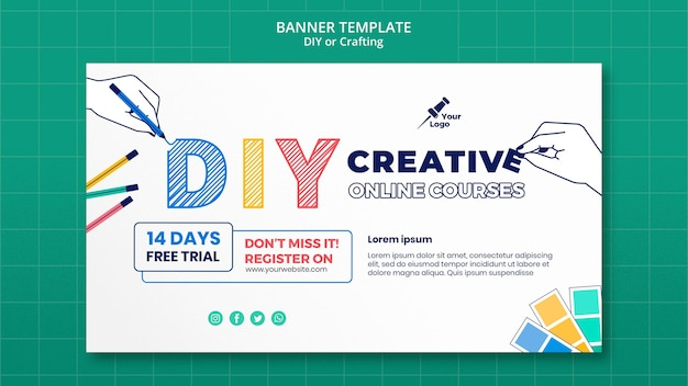 Diy or crafting banner template