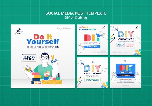 Diy or crafting social media post