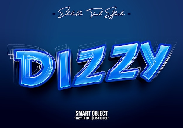 Dizzy text style effect