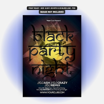Dj black party night