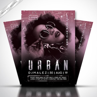 Dj music festival flyer or poster template