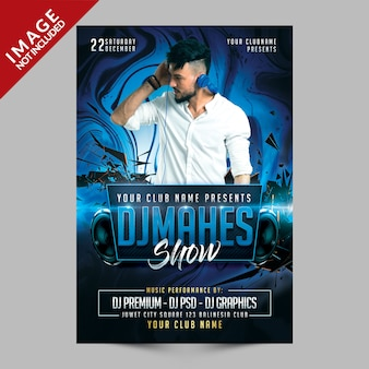 Dj music night club flyer