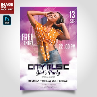 Dj music party flyer template