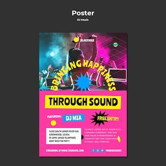 Modello di poster di musica dj