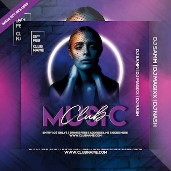 Dj night party flyer template