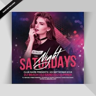 Dj night party flyer