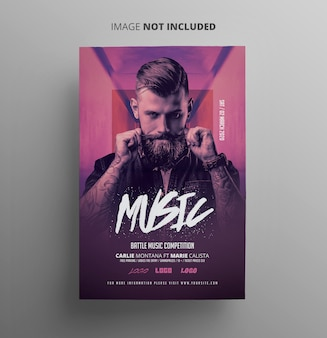 Dj party event flyer template