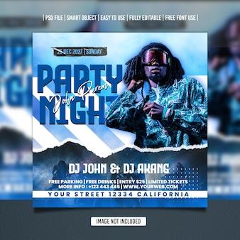 Dj party flyer social media template premium psd