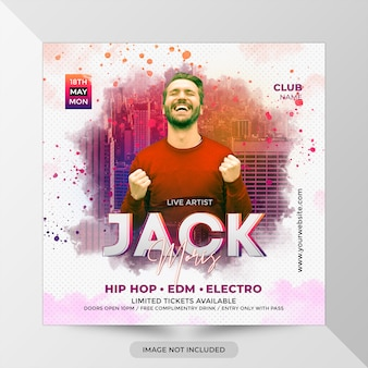 Dj party flyer template