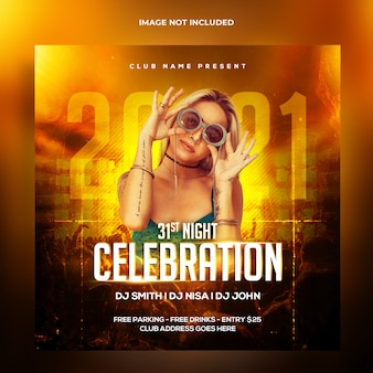 Dj party social media post and web banner template