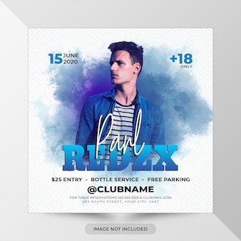 Dj remix party flyer template