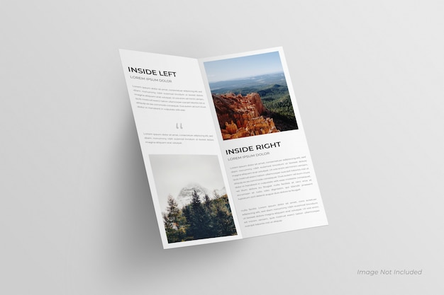 Dl bi-fold брошюра макет