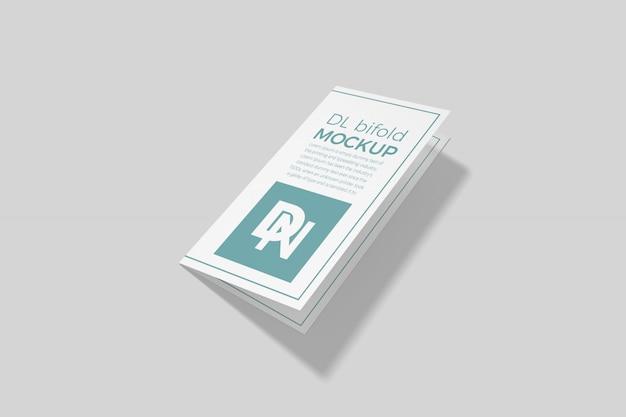 Dl二つ折りパンフレットモックアップ