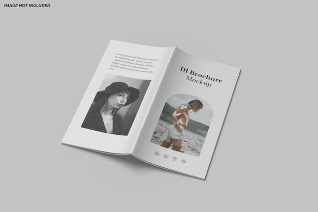 Dlパンフレット2つ折りモックアップデザイン