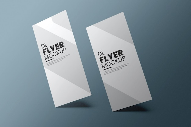 Dl flyer mockup design in 3d rendering