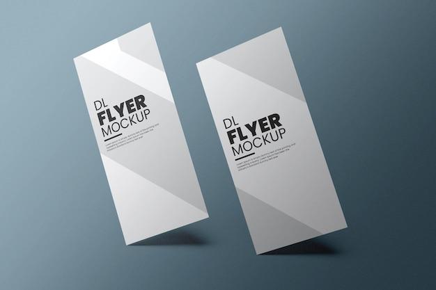 Dl flyer mockup design in 3d rendering