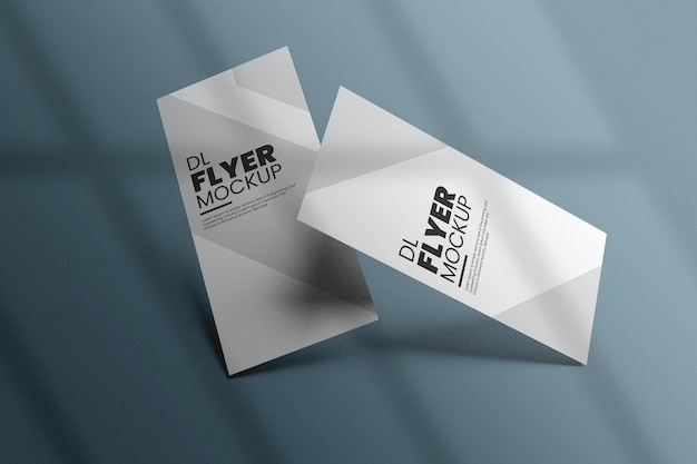 Дизайн макета флаера dl в 3d-рендеринге