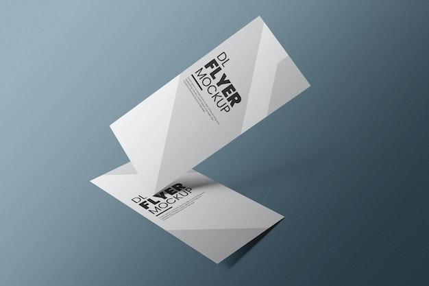 Дизайн макета флаера dl в 3d-рендеринге Premium Psd