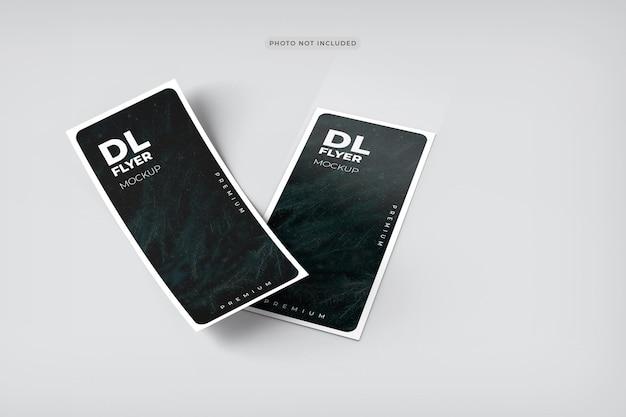 Dlフライヤーモックアップデザインレンダリング