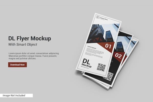 Dl flyer mockup с текстовым шаблоном